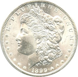 Image of 1899-O $1 PCGS MS66