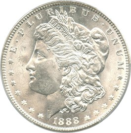 Image of 1888 $1 PCGS MS65