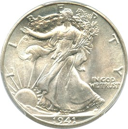 Image of 1941 50c PCGS/CAC MS67+