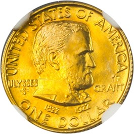 Image of 1922 Grant with Star G$1 NGC MS67