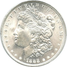 Image of 1888 $1 PCGS MS65+