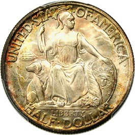 Image of 1936-D San Diego 50c PCGS/CAC MS67+