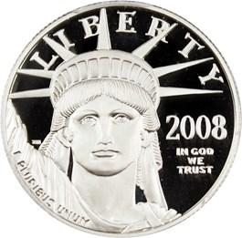 Image of 2008-W Platinum Eagle $50 PCGS Proof 70 DCAM