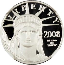Image of 2008-W Platinum Eagle $10 NGC Proof 70 UCAM