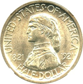 Image of 1921 Missouri 50c NGC/CAC MS64+