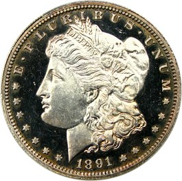 Image of 1891 $1 PCGS Proof 65 CAM