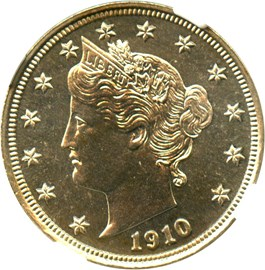 Image of 1910 5c NGC Proof 66