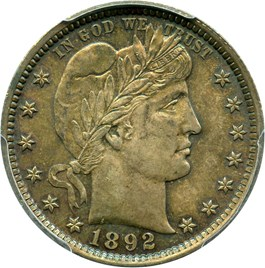 Image of 1892 25c PCGS MS64