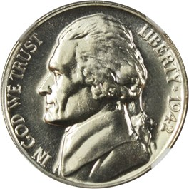 Image of 1942-P 5c NGC Proof 67 (Type 2, Silver)