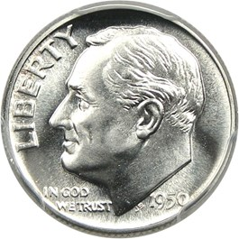 Image of 1950 10c PCGS Proof 68