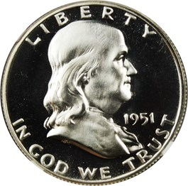 Image of 1951 50c NGC Proof 67 CAM
