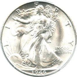 Image of 1946-S 50c PCGS/CAC MS66
