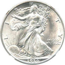 Image of 1936-D 50c NGC/CAC MS66