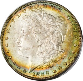 Image of 1888 $1 PCGS MS66+