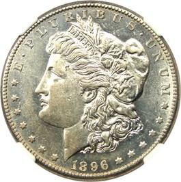 Image of 1896-S $1 NGC AU58