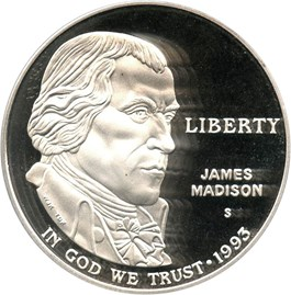 Image of 1993-S Madison $1 PCGS Proof 69 DCAM