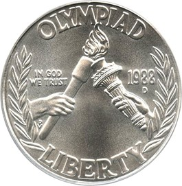 Image of 1988-D Olympic $1 PCGS MS69