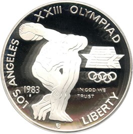 Image of 1983-S Olympic $1 PCGS Proof 69 DCAM