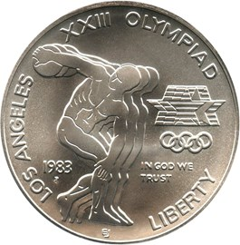 Image of 1983-P Olympic $1 PCGS MS69