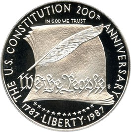 Image of 1987-S Constitution $1 PCGS Proof 69 DCAM