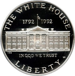 Image of 1992-W White House $1 PCGS Proof 69 DCAM
