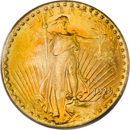 Image of 1928 $20 PCGS MS64 - No Reserve!