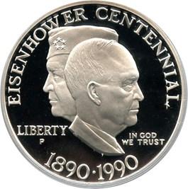 Image of 1990-P Eisenhower $1 PCGS Proof 69 DCAM