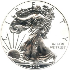 Image of 2012-S Silver Eagle $1 PCGS Proof 69 (San Francisco Eagle Set, Reverse Proof)