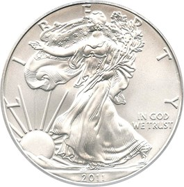 Image of 2011-S 25th Anniversary Silver Eagle Set $1 PCGS MS69