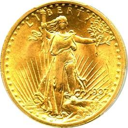 Image of 1907 Saint Gaudens $20 PCGS MS64