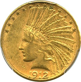 Image of 1912-S $10 PCGS AU55