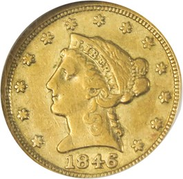 Image of 1846-D $2 1/2 NGC VF25