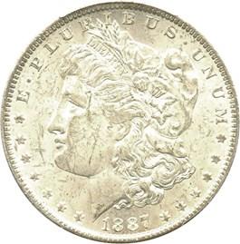 Image of 1887/6-O $1 PCGS MS61