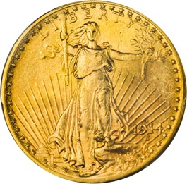 Image of 1914-D $20 PCGS MS64