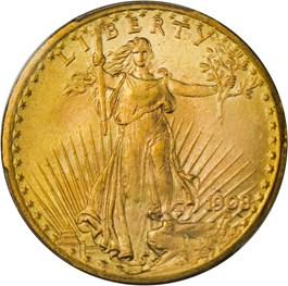 Image of 1908 $20 PCGS MS66+ (No Motto)