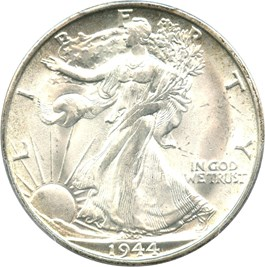 Image of 1944-S 50c PCGS MS66