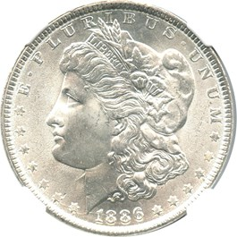 Image of 1886 $1 NGC/CAC MS66