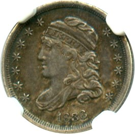 Image of 1836 H10c NGC/CAC XF45 (Large 5C)