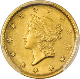 Image of 1853 G$1 PCGS AU58