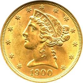 Image of 1900 $5 NGC MS63