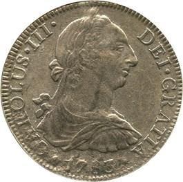 Image of Mexico: 1783-Mo FF 8 Reales NGC Genuine (El Cazador)