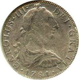 Image of Mexico: 1781-Mo FF 8 Reales NGC Genuine (El Cazador)