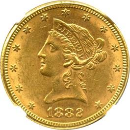 Image of 1882 $10 NGC MS61