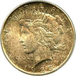 Image of 1923-D $1 PCGS/CAC MS65
