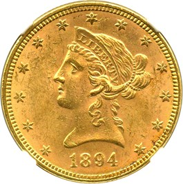 Image of 1894 $10 NGC MS62