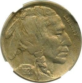 Image of 1920-D 5c NGC/CAC XF45