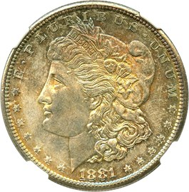 Image of 1881-S $1 NGC/CAC MS65