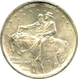 Image of 1925 Stone Mountain 50c PCGS/CAC MS66