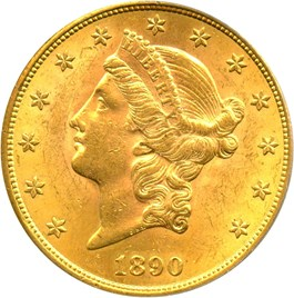 Image of 1890-S $20 PCGS MS62