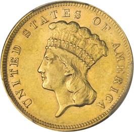 Image of 1878 $3 PCGS AU53